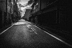 Forever Together (tomorca) Tags: people man woman alley road town blackandwhite monochrome fujifilm xt2