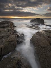 Parton 160818 I (Peter Henry Photography) Tags: water sea beach rocks parton coast shore cumbria whitehaven tide waves sunset sky colour nikon tamron1530 leefilters nisifilters