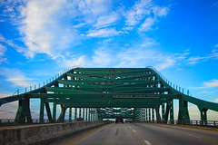 Piscataqua River Bridge (BlueShift 12) Tags: maine newhampshire bridge highway road roadway i95 interstate clouds green travel trip journey rawtherapee canoneos5dmarkii
