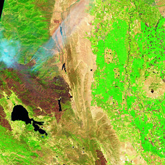 Mendocino Complex, 13 August 2018, variant (sjrankin) Tags: 16august2018 edited sentinel2 california northerncalifornia smoke fires wildfires l1ct10seja01641220180813t185918 centralvalley coastrange marysvillebuttes fire clearlake mendocinocomplex ranchfire riverfire burnscar esa europeanspaceagency large 2261mb