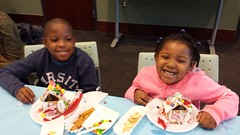 20161210_134157 (ypsidistrictlibrary) Tags: gingerbreadhouses gingerbread candy kids annual xmas christmas ydlwhittaker