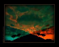 The storm & Silhouette (aRtphotojart) Tags: storm silhouette sky colors mountain landscape