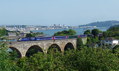 43156 Coombe by Saltash Viaduct (Marky7890) Tags: gwr 43156 class43 hst 1a96 coombebysaltashviaduct railway saltash viaduct cornwall cornishmainline train