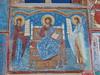 Jesus, Mary and John (rgrant_97) Tags: nia bucovina monastery voronets frescoes blue