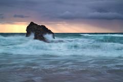 Holywell Rays (Andrew Hocking Photography) Tags: holywell bay beach cornwall newquay england seascape landscape splash godrays sunset cloudporn waves seaside sea ocean coast rock