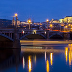 Romantic Prague at blue hour thumbnail