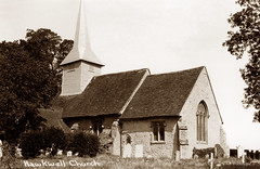 Hawkwell Church (footstepsphotos) Tags: hawkwell church mary essex exterior building old vintage postcard past historic