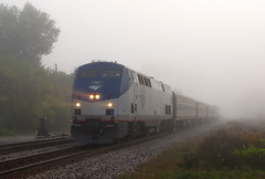 Foggy 365 (GLC 392) Tags: amtrak amtk 36 blue water ge p42dc durand mi michigan passenger train railroad railway fog foggy 365