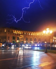 from Yesterday's Storm (Alexanyan) Tags: yerevan republic square armenia lightning rain storm sky light skyline street capital city armenie hayastan caucasia հայաստան αρμενία армения night