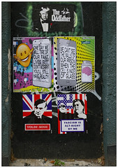 Volde-mogg (donbyatt) Tags: bedminster bristolupfest2018 streetartfestival graffiti streetart urbanwalls spraycans posters pasteups political donaldtrump voldemogg