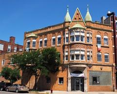 1870 S. Blue Island Avenue (Brule Laker) Tags: chicago illinois pilsen caf chicagoarchitecturefoundation walkpilsen beer schlitz tiedhouse