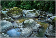 Friends secret (Petra Ries Images) Tags: samyang12mmf22 landscape landschaft rocks steine boulders reflection reflexion creek fluss stream water wasser bach manualfocus manuallens austria österreich forest
