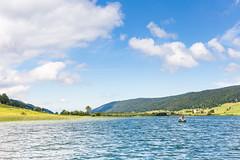 Les Rousses,  Jura, France (Zeeyolq Photography) Tags: boat fisherman fishing france jura lacdesrousses lake landscape lesrousses sky bourgognefranchecomté fr