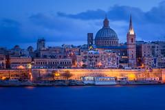 farewell to malta | valetta, malta (kleptografy) Tags: europe hdr malta sliema cityscape evening lagoon longexposure religiousstructure sea tassliema mt totalphoto