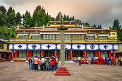 Rumtek Monestary - Gangtok - Sikkim - India (Tilak Haria) Tags: buddha buddhist monestary gangtok sikkim india people worship monks trees sky architecture tower colors