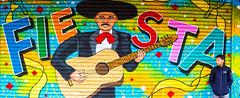 Fiesta (Thomas Hawk) Tags: america california fiesta mission missiondistrict sanfrancisco usa unitedstates unitedstatesofamerica graffiti guitar streetart fav10 fav25 fav50