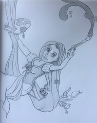Rapunzel drawing (Toby0177) Tags: sketch sketchbook pencil drawing draw art anime disney