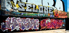 graffiti in Amsterdam (wojofoto) Tags: amsterdam nederland netherland holland ndsm graffiti streetart wojofoto wolfgangjosten lost lostangelz heisa