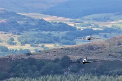 Pair of Tuncanos (zxious) Tags: canon600d sigma150500mmlens snowdonianationalpark snowdonia sigma150mm500mmlens sigma canon cymru raf landscape lowflying loop outside outdoor ohhh aircraft air sky speed tucano proptrainer