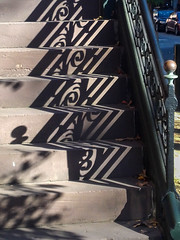 Shadowy ornament (Oleg S .) Tags: shadow pattern railing usa philadelphia pennsylvania