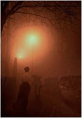 """Stepping through the mists of time"" (martinshore) Tags: streetlight streetlamp mist fog"