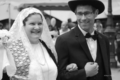 folk dancers (albyn.davis) Tags: luxembourg europe travel people couple hat costumes tuxedo blackandwhite smiles expressions faces portrait