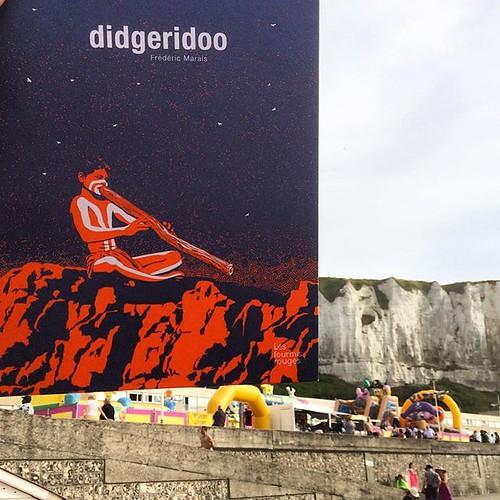 #Didgeridoo (de #fredericmarais @lesfourmisrouges) excellent coup de cœur des médiateurs #lireaplage au #letreport ;-) @seine_maritime_normandie #tw #normandie