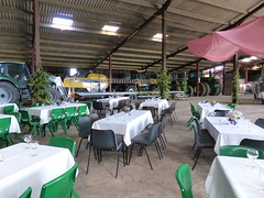 In The Barn (FloraandFauna_2) Tags: barn tractors tables chairs flowers fir tree farm 80th birthday