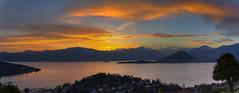 Sunset Over Lago Maggiore (Dario654321) Tags: italia landscape paesaggi italy lake lago maggiore verbania laveno intra pallanza sunset tramonto sun colors colori clouds nuvole canon