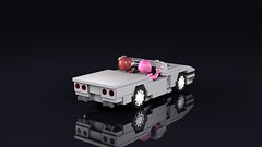 Chevrolet C4 Corvette convertible (THIRMO) Tags: thirmo vonerics lego moc 6wide cityscale chevrolet c4 corvette convertible ldraw povray