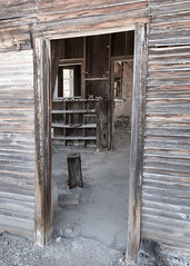 Kindly Wipe Your Feet (pmkelly) Tags: abandoned arizona desert door ghosttown ruby shelves