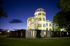 A-Bomb Dome, Hiroshima (I M Roberts) Tags: abombdome hiroshima westernhonshu japan nightscene fujix100s