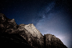 FOR YOU, I WOULD CLIB THE MOUNTAINS ! (Jeton Bajrami) Tags: milkyway milky switzerland mountains night stars perfect art 2018 naturalisons a7ii chamoson sony alpha 16mm f4 fe zeiss lenses