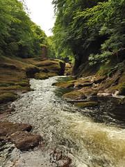 F7133768 E-M5ii 14mm iso100 f8 1_80s (Mel Stephens) Tags: rocks of solitude glen angus uk scotland aberdeenshire 20180713 201807 2018 q3 3x4 tall olympus mzuiko mft microfourthirds m43 714mm pro omd em5ii ii mirrorless water structure abandoned derelict ruin bridge footbridge river north esk