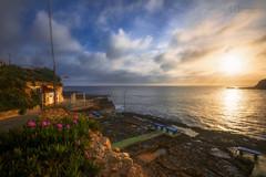 Marsalforn Bay (Christina Angquico) Tags: malta mediterranean marsalforn bay sunrise restaurant gozo island d600 1635mm christinaangquico