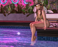 . Kiim . #Catwa #Beusy #Patane #GlamAffair #Blueberry #ValeKoer #PoolNight (Crayolas Clothes) Tags: catwa beusy patane glamaffair blueberry valekoer pool night poolparty tan tanskin bikini coins metal black hat ponytails glasses sunglasses top sl slfashion slgirl second life secondlife maitreya curve big sweetener doll dolly sweet sweety babe baby bae darling georgeus heart glow sparkles avatar 2018 agust
