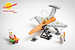 Space Carrot (Zed_43) Tags: brickpirate bpchallenge lego space classic carrot contest moc rabbit spaceship