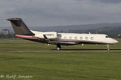 N456FX GIV-X (G450) Private Glasgow airport EGPF 16.08-18 (rjonsen) Tags: plane airplane aircraft aviation business jet corpoprate