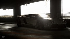Lamborghini Avanetador (Matze H.) Tags: lamborghini aventador lp700 gt sport gran turismo parking lot black white dark supercar car scapes uhd 4k wallpaper