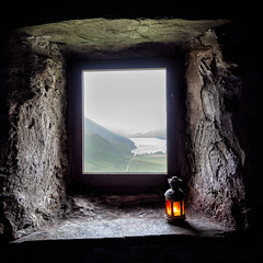 Welcome shelter (Pete Rowbottom, Wigan, UK) Tags: squareformat bothy warnscalebothy lamp light window cumbria uk britain travel art flame mountain wainwright slate mountainbothy rain weather buttermere shadows weathershelter badweather haystacks fleetwithpike indoors outdoor shelter fire lake hills hiking peterowbottom nikond750 texture 2018 crummockwater