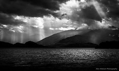 Spot lights (AlexWatson Photography) Tags: new zealand newzealand wanaka lake contrast black white light dark shadow dramatic landscape landscapephotography travel travelphotography sun nature mountains moody