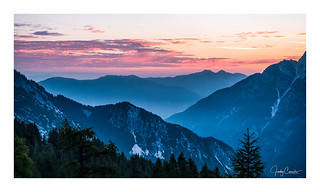 Sunrise in the Julian Alps