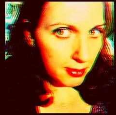 [ she sees through you ] (ǝlɐǝq ˙M ʍǝɥʇʇɐW) Tags: jodie she feminine portraiture faux 3d tronaremix woman beauty sheseesthroughyou