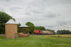 PREX #107 @ Gettysburg, PA (Darryl Rule's Photography) Tags: 2018 clouds cloudy diesel diesels emd get gp10 gettysburgnorthern june local pa prr pennsy pennsylvania pennsylvaniarailroad railroad railroads rain rainy shortline summer train trains