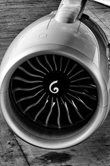 The Fan (CDeahr23) Tags: ge ge90 jetengine americanairlines jfk kjfk 777 777300 boeing blackandwhite bw aircraft airplane fanblades kennedyairport newyorkcity queens newyork