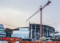 warriors arena progress 8.8.18 (pbo31) Tags: bayarea california nikon d810 color august 2018 summer boury pbo31 urban city sanfrancisco panoramic large stitched panorama missionbay construction warriors nba chasecenter 3rd basketball arena goldenstate site crane orange