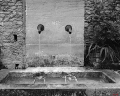 Double Fountain (fs999) Tags: fs999 fschneider aficionados zinzins plaubel makina 67 plaubelmakina67 6x7 film camera filmcamera 60x70 ashotadayorso topqualityimage topqualityimageonly artcafe pentaxart corel paintshoppro paintshoppro2018ultimate 2018ultimate nikkor12880mm nikon nikkor 128 80mm 8028 crestet vaucluse provence france rollei rpx 400 rpx400 rolleirpx400 400iso blackwhite blackandwhite bw noirblanc noiretblanc nb blackwhitephotos caffenol clcs cold start stand home development plustek opticfilm 120 scanner 2400dpi silverfast ai studio