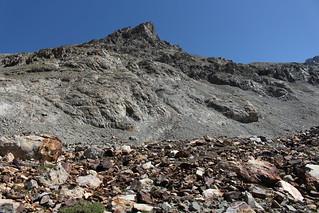 vers le haut Glacier d'Arolla