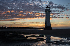 Perch Rock Lighthouse (David Chennell - DavidC.Photography) Tags: perchrock lighthouse newbrighton wirral merseyside twilight goldenhour dusk