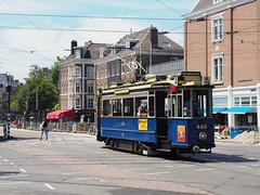 GVB 465 (jvr440) Tags: tram trolley strassenbahn amsterdam gvb ema elektrische museumtramlijn blauwe wagen frederiksplein